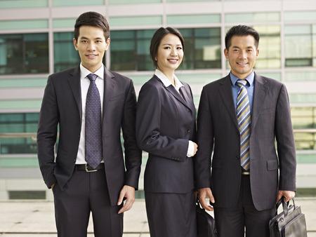 portrait of an asian business team.