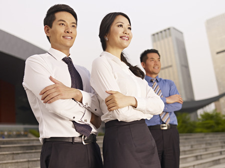 asian business people: portrait of asian business team. Stock Photo
