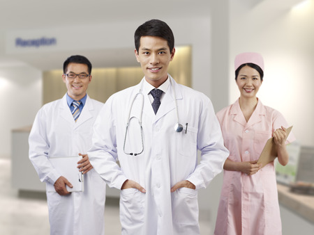 portrait of a young male asian doctor.