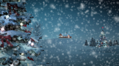 covered in snow: computer generated background image with christmas theme