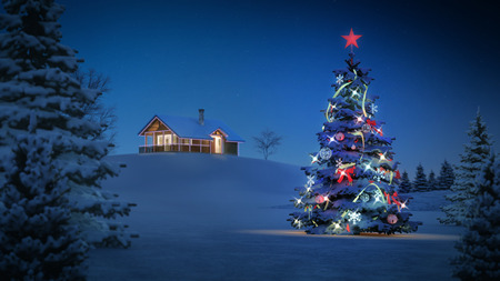 computer generated background image with christmas theme.