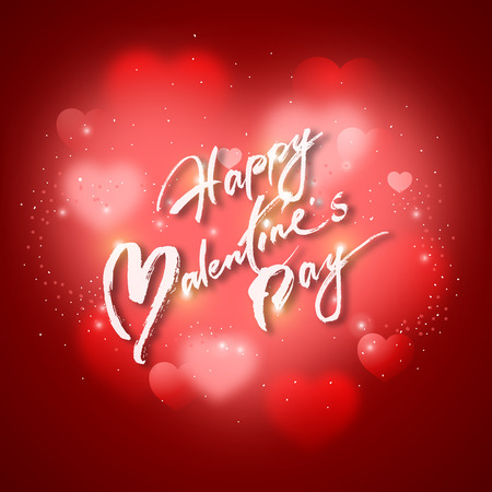 graphic background: valentines day text and graphic on red heart shaped background. Illustration