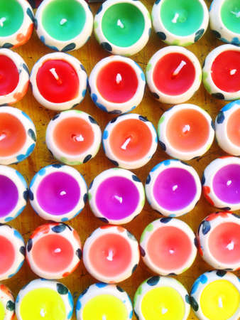 forcast: Colorful candle