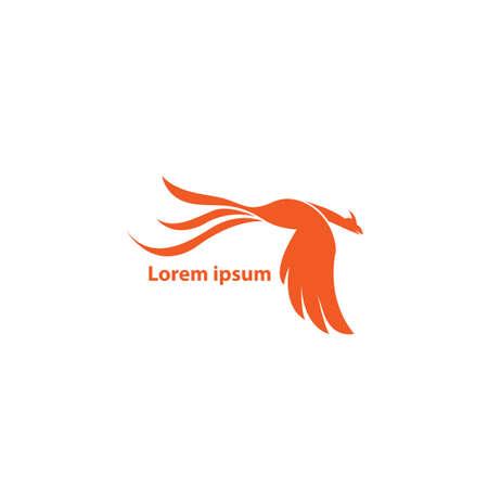 business logo. phoenix flying logo