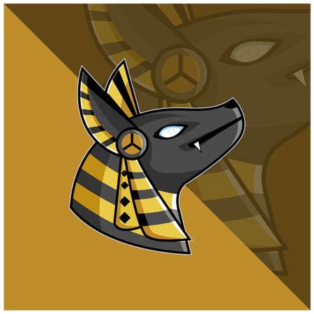 sport emblem. Anubis, Egyptian king