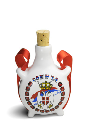 ceramic bottle: Souvenir from Serbia