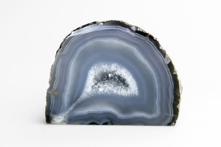 gray-blue agate Stock Photo