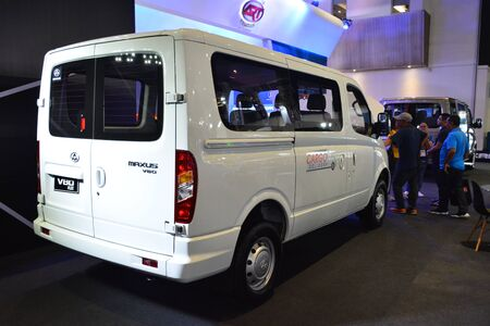 PASAY, PH - AUG. 17: Maxus V80 van on August 17, 2018 at Transport and Logistics in World Trade Center Metro Manila, Pasay, Philippines.