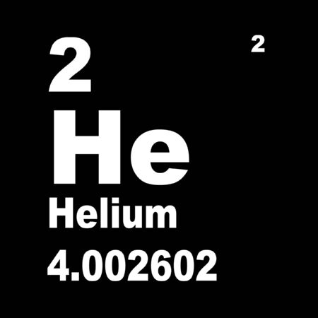Helium is the chemical element with atomic number 2.