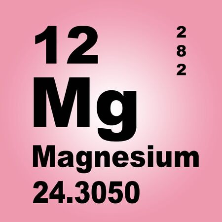 Magnesium is a chemical element with symbol Mg and atomic number 12. Stock Photo