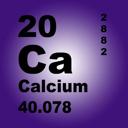 Calcium is a chemical element with symbol Ca and atomic number 20.
