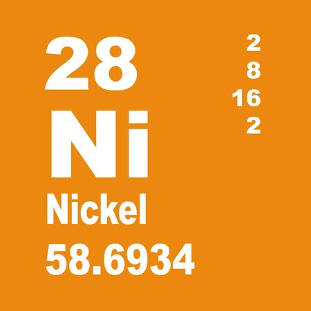 Nickel is a chemical element with symbol Ni and atomic number 28 Stock fotó