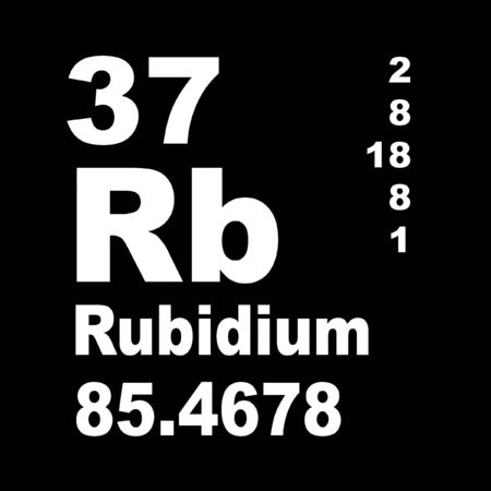 Rubidium is a chemical element with symbol Rb and atomic number 37.