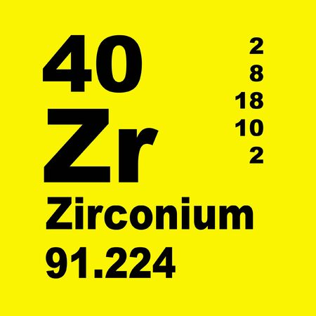 Zirconium is a chemical element with symbol Zr and atomic number 40