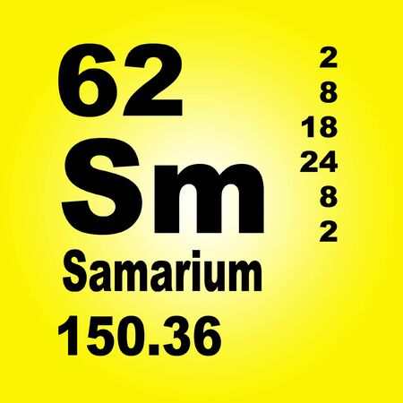 Samarium is a chemical element with symbol Sm and atomic number 62