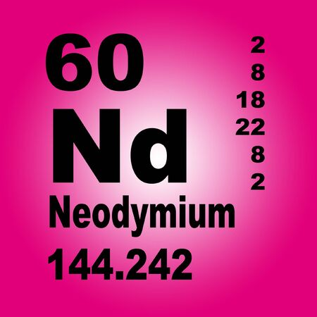 Neodymium is a chemical element with symbol Nd and atomic number 60 Stock fotó