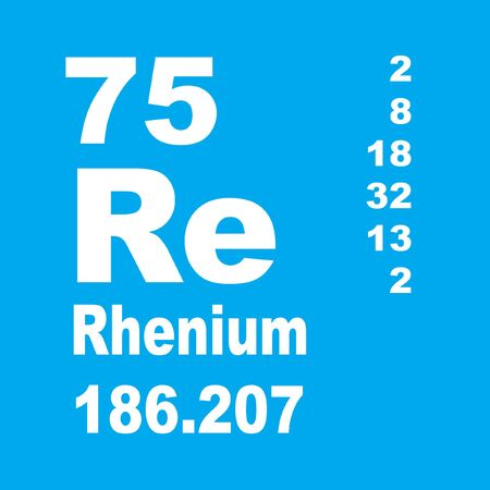 Rhenium is a chemical element with symbol Re and atomic number 75.