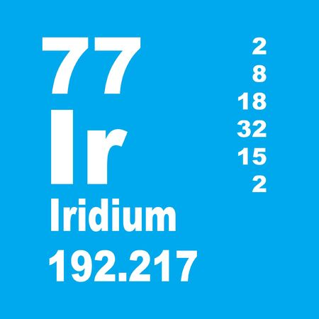 Iridium is a chemical element with symbol Ir and atomic number 77. Stock Photo - 136735306