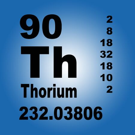Thorium is a chemical element with symbol Th and atomic number 90. Stock fotó
