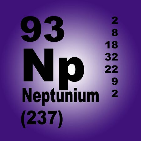 Neptunium is a chemical element with symbol Np and atomic number 93.