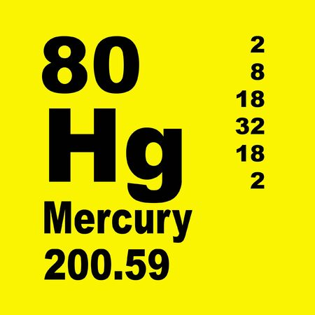 Mercury is a chemical element with symbol Hg and atomic number 80. Reklamní fotografie - 136522292
