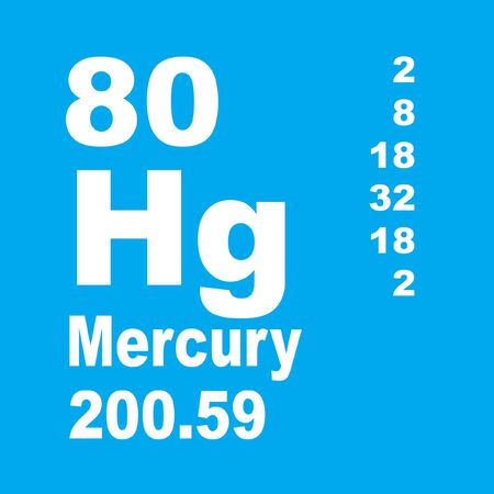 Mercury is a chemical element with symbol Hg and atomic number 80. Reklamní fotografie - 136522334