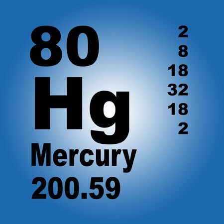 Mercury is a chemical element with symbol Hg and atomic number 80. Reklamní fotografie - 136522312