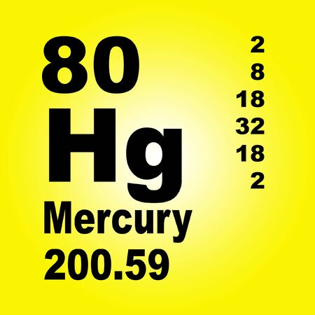 Mercury is a chemical element with symbol Hg and atomic number 80. Reklamní fotografie - 136522341