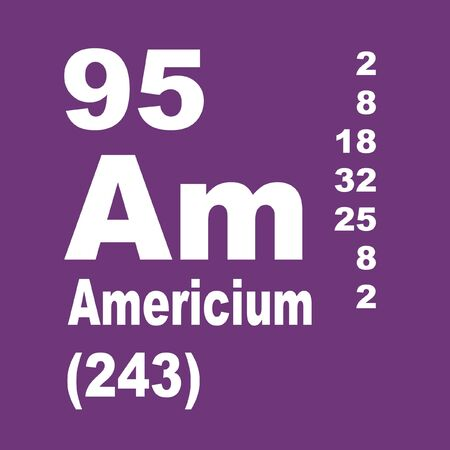 Americium is a radioactive transuranic chemical element with symbol Am and atomic number 95.