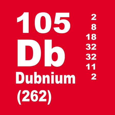 Dubnium is a chemical element with symbol Db and atomic number 105.