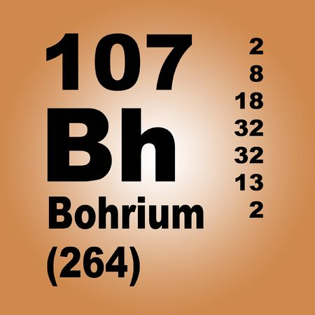 Bohrium is a chemical element with symbol Bh and atomic number 107.