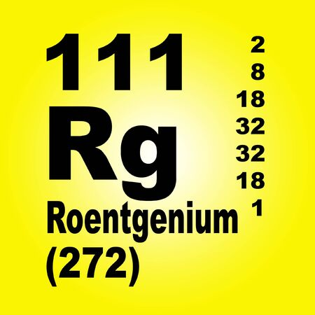 Roentgenium is a chemical element with symbol Rg and atomic number 111.