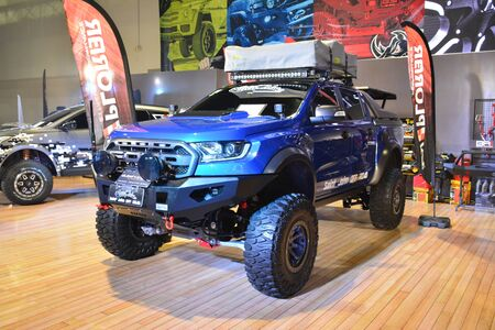 PASAY, PH - NOV. 16: Ford Ranger Raptor pick up at Manila Auto Salon on November 16, 2019 in SMX Convention Center, Pasay, Philippines.
