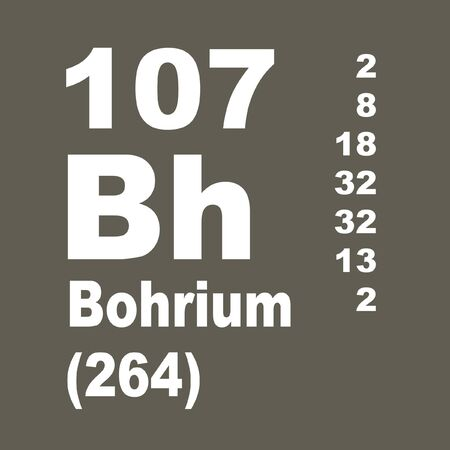 Bohrium is a chemical element with symbol Bh and atomic number 107. Reklamní fotografie