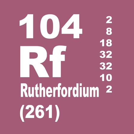 Rutherfordium is a chemical element with symbol Rf and atomic number 104, named in honor of physicist Ernest Rutherford
