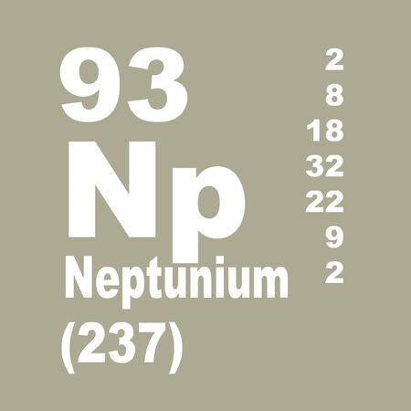 Neptunium ist ein chemisches Element mit dem Symbol Np und der Ordnungszahl 93.
