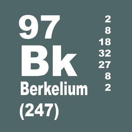 Berkelium is a transuranic radioactive chemical element with symbol Bk and atomic number 97