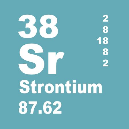 Strontium is a chemical element with symbol Sr and atomic number 38. Stock Photo