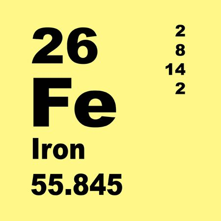 Iron is a chemical element with symbol Fe (from Latin: ferrum) and atomic number 26.