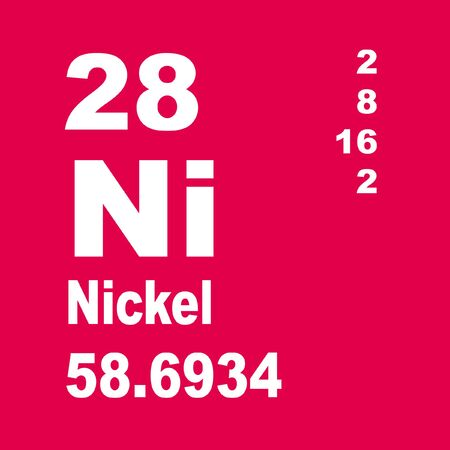 Nickel is a chemical element with symbol Ni and atomic number 28 Reklamní fotografie