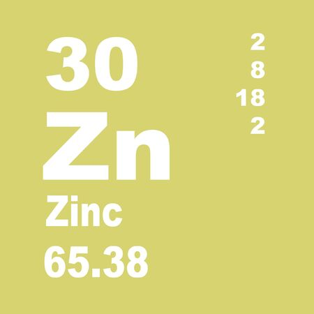 Zinc, in commerce also spelter, is a chemical element with symbol Zn and atomic number 30 写真素材
