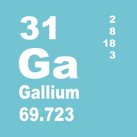 Gallium is a chemical element with symbol Ga and atomic number 31.