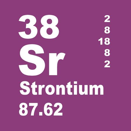 Strontium is a chemical element with symbol Sr and atomic number 38.
