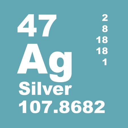 Silver is a chemical element with symbol Ag and atomic number 47.