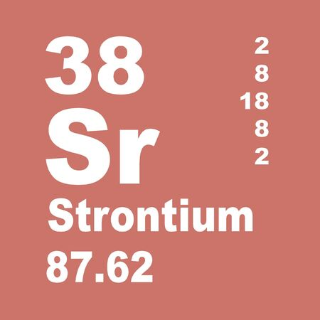 Strontium is a chemical element with symbol Sr and atomic number 38. Stock fotó