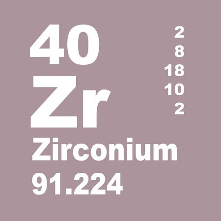 Zirconium is a chemical element with symbol Zr and atomic number 40 Stock fotó