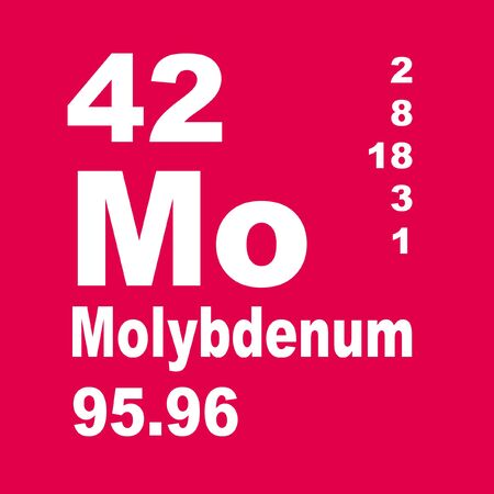 Molybdenum is a chemical element with symbol Mo and atomic number 42.