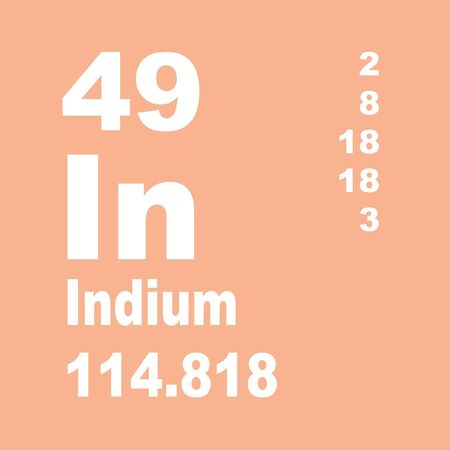 Indium is a chemical element with symbol In and atomic number 49