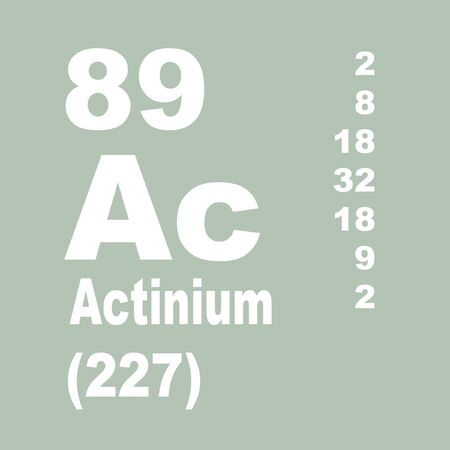 Actinium is a radioactive chemical element with symbol Ac (not to be confused with the abbreviation for an acetyl group) and atomic number 89 Stock Photo
