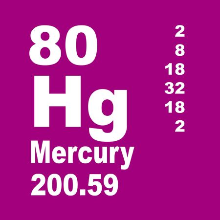 Mercury is a chemical element with symbol Hg and atomic number 80. Reklamní fotografie - 136689915